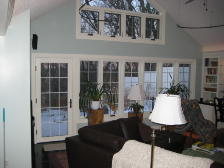 Garage conversion, sunroom upgrade, library, siiting room
